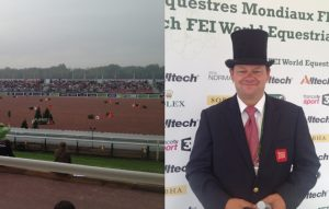 The driving cones arena at WEG 2014 and Brit Wilf Bowman-Ripley, who drove a clear round