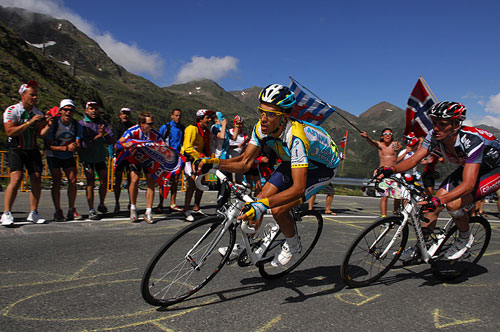 Alberto Contador attacks, Tour de France stage 7