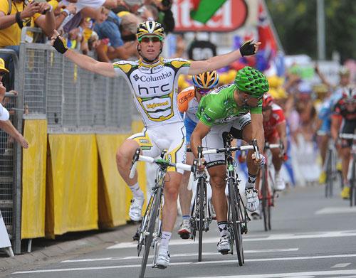 Mark Cavendish wins, Tour de France 2009, stage 10