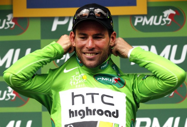 Photo: Mark Cavendish in the green jersey after stage 11 of the 2011 Tour de France Credit: Graham Watson .