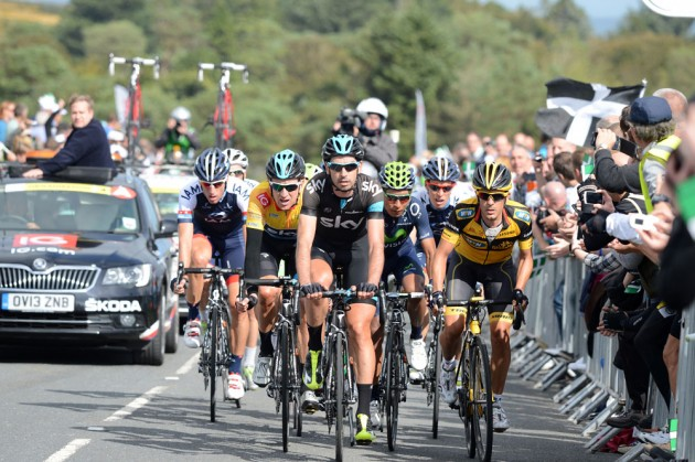 Photo: First there's Bradley Wiggins (Sky), who, despite seeming increasingly disillusioned with road cycling, returns to the race he won last year with the committed intention of defending the title..