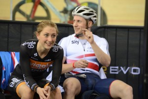 Laura Trott and Jason Kenny, Revolution Series, London, March 2014, day one