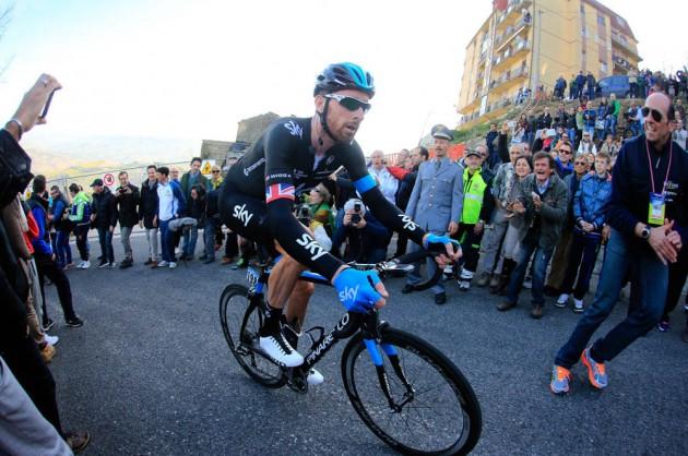 Photo: Bradley Wiggins on Stage 5 of the 2014 Tirreno Adriatico .