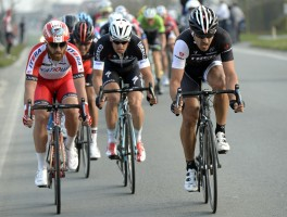Fabian Cancellara and Luca Paolini in the 2014 E3 Harelbeke