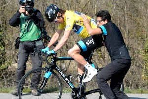 Geraint Thomas on stage six of the 2014 Paris-Nice