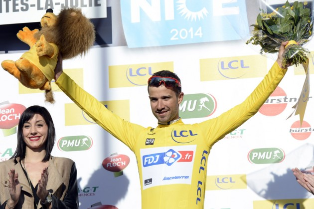 Photo: Nacer Bouhanni wins stage one of the 2014 Paris-Nice .