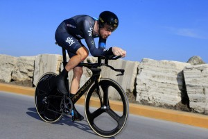 Bradley Wiggins on stage seven the 2014 Tirreno Adriatico