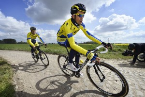 Alberto Contador Training on Cobblestones