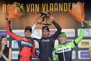 Tour of Flanders podium 2014