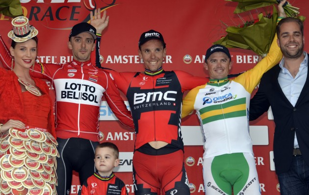 Photo: Philippe Gilbert wins the 2014 Amstel Gold Race .