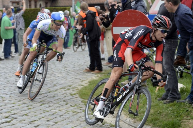 Photo: Taylor Phinney leads an escape in the 2014 Tour of Flanders Credit: Watson .