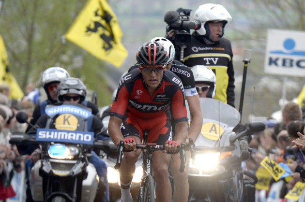 Photo: Greg van Avermaet in the 2014 Tour of Flanders Credit: Watson .