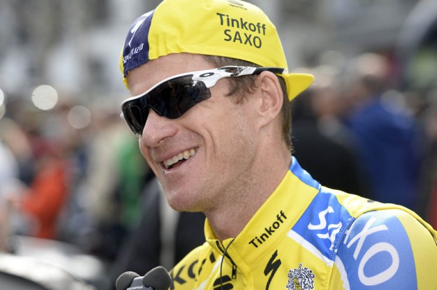 Photo: Michael Rogers in the 2014 Liege - Bastogne - Liege .