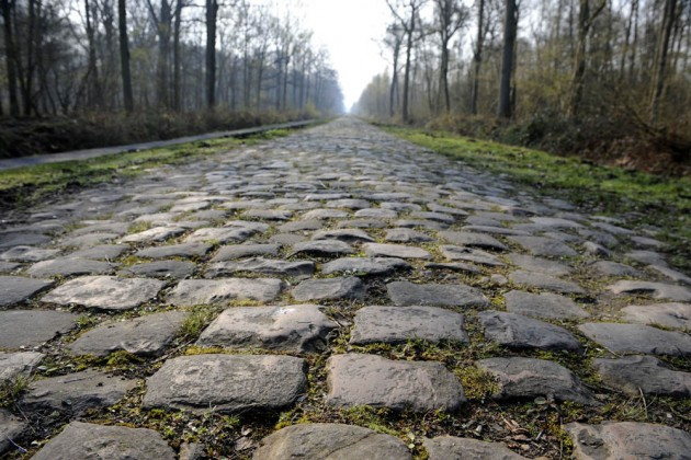Photo: THE COBBLESTONES OF WALLERS-ARENBERG Credit: Graham Watson .