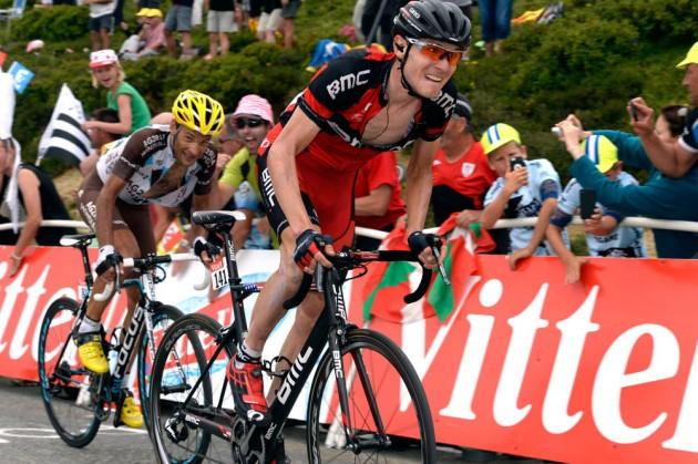Photo: Tejay Van Garderen on stage eightteen of the 2014 Tour de France .