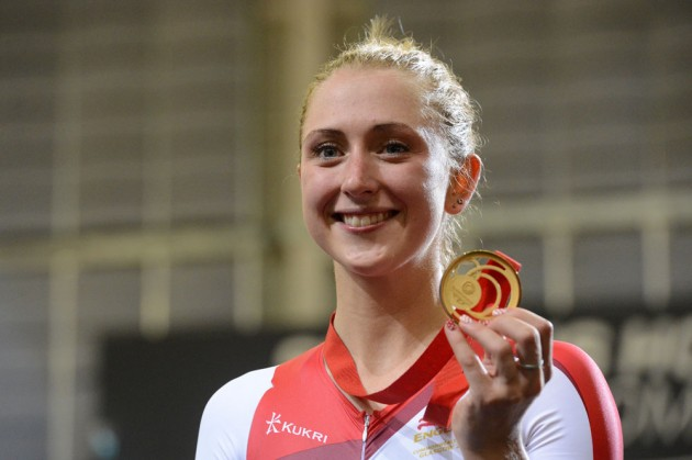 Photo: Laura Trott, Commonwealth Games 2014 Glasgow, track cycling day four .