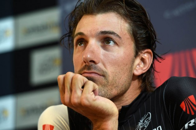 Photo: Fabian Cancellara poses before the 2014 Tour de France...