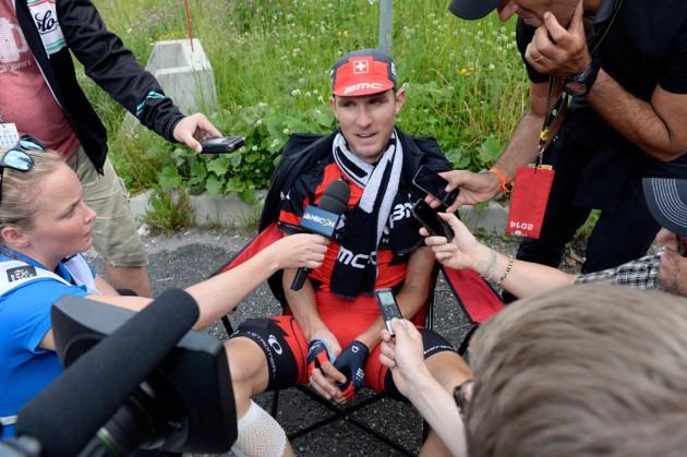 Photo: Tejay Van Garderen on stage fourteen of the 2014 Tour de France .