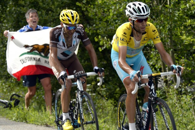 Photo: Vincenzo Nibali on stage fourteen of the 2014 Tour de France .