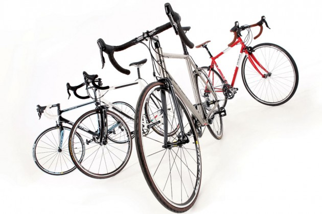 Photo: Four Brit bikes, four different materials, which one of the offerings from Dolan, Forme, Genesis or Condor come up best?
