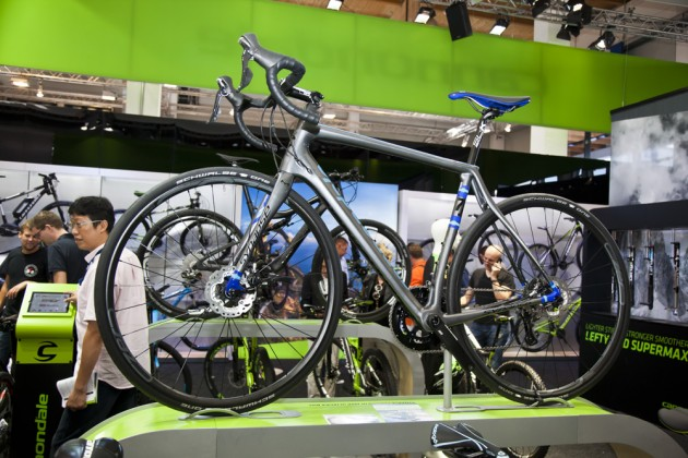 Photo: Cannondale are getting behind road disc brakes .