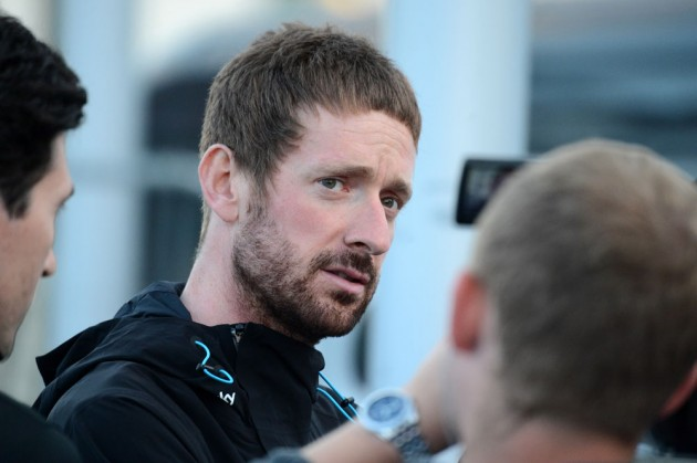 Photo: Bradley Wiggins, Tour of Britain 2014 team presentation .
