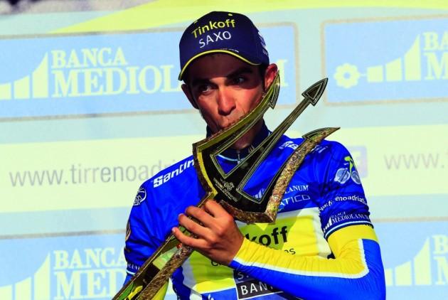 Photo: Alberto Contador wins the 2014 Tirreno Adriatico .