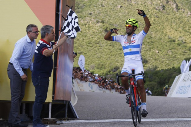 Photo: Daniel Diaz wins Tour de San Luis summit finish and takes lead ... www.cyclingweekly.co.uk630 Daniel Diaz wins Stage 2 of the 2015 Tour de San Luis from Rodolfo Torres and.