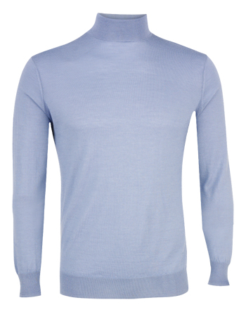 House of Cashmere blue roll-neck sweater