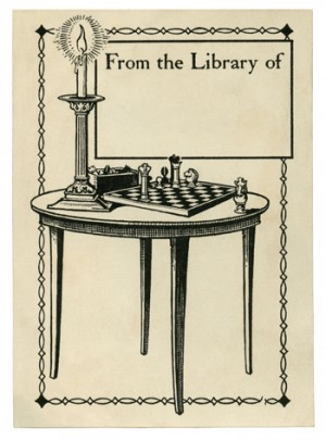 ONE USE bookplate