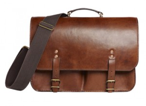 Luxury bags for men: The Merchant Fox Dart oak-bark tanned leather bag