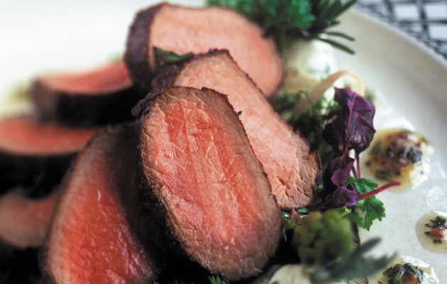 Recipe: Roast loin of lamb with asparagus, goat's cheese and lavender ...