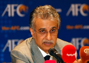 President of Asian Football Confederation Sheikh Salman Bin Ibrahim Al Khalifa