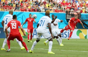 Shaqiri scores first goal of hat-trick against Honduras