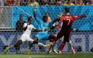 Cristiano Ronaldo scores against Ghana