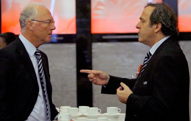 Franz Beckenbauer and Michel Platini
