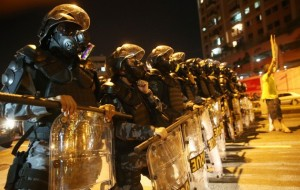 Police prevent protestors reaching Maracana