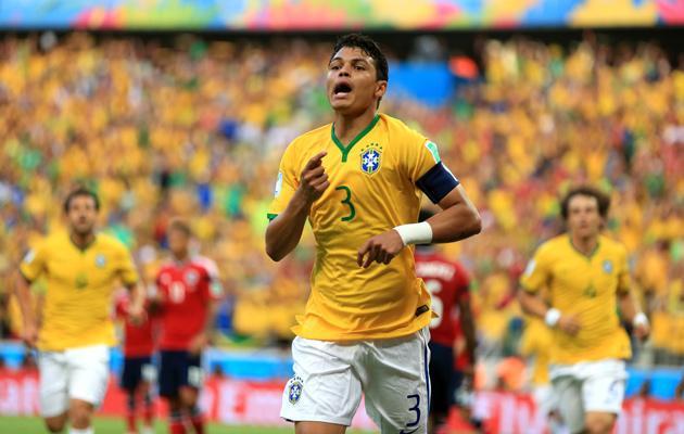 Thiago Silva goal against Colombia