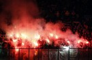 St. Etienne's supporters hold flares during their Europa League Group F soccer match against Inter Milan at the San Siro   stadium in Milan