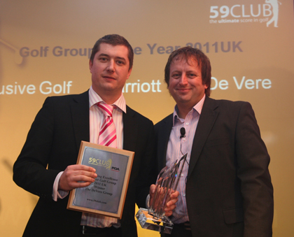 Steve Dacre De Vere Golf Group Sales Manager with Simon Wordsworth
