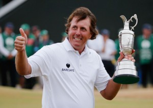 Phil Mickleson wins Open Championship (Getty Images)