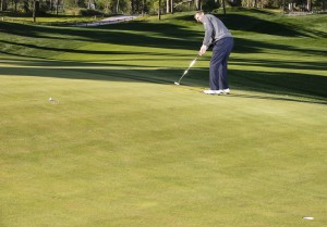 golf putting tips: see one straight line