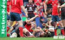 Captain Fantastic: Munster's Paul O'Connell creeps over for a rare try against Toulouse