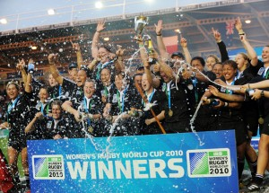 Champions: New Zealand celebrate after beating England to win the 2010 Women's World Cup
