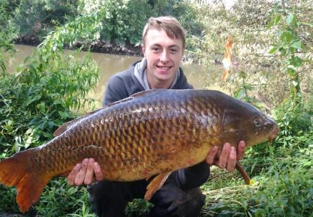 Common carp: Kiral Battishill aged 14 ... my son's new pb