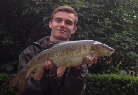 Barbel: Beautiful 8lb barbel from local river Frays