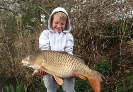 Common carp: 7 year old catches common