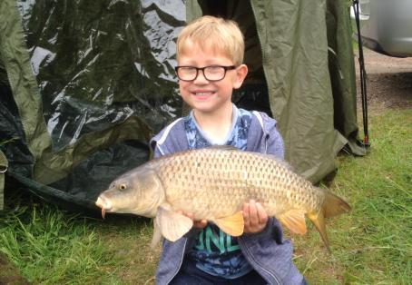 Common carp: first ever fish for 5 year old