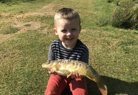 Mirror carp: FIRST FISH STUNNER
