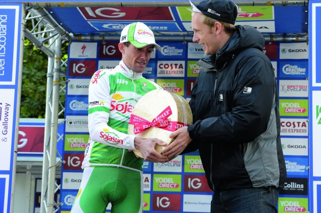 After Tom Meeusen was handed a shower set for winning a stage in the